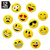 16'' Emoji Party Pack Inflatable Beach Balls - Beach Pool Party Toys (12 Pack)