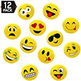"""16"""" Emoji Party Pack Inflatable Beach Balls - Beach Pool Party Toys (12 Pack)"""