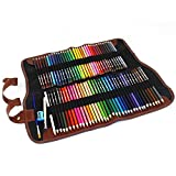 LIFEMATE Pencil Wrap Case Colored Pencil Roll Up Case Pencil Case Pencil Holder 72(Colored Pencils Not Included)