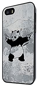 iphone 4s Banksy Grafitti Art Wall Shooting Panda Design Fashion Trend Case Back Cover Metal and Hard Plastic Case