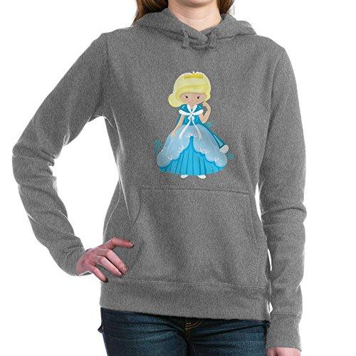 Royal Lion Women's Hooded Sweatshirt Dk Ice Princess Snowflake - Charcoal Heather, XL