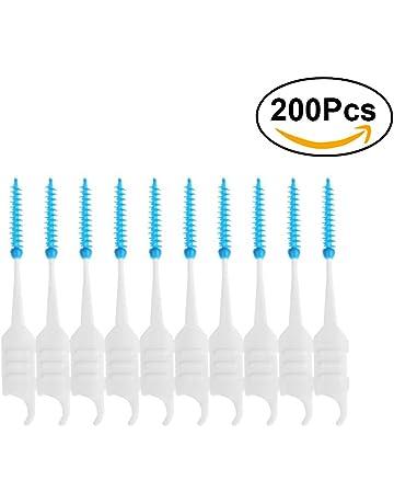 ULTNICE Dientes de cepillo dentales dentales de 200pcs Dientes de cepillo dentales de palillo de dientes