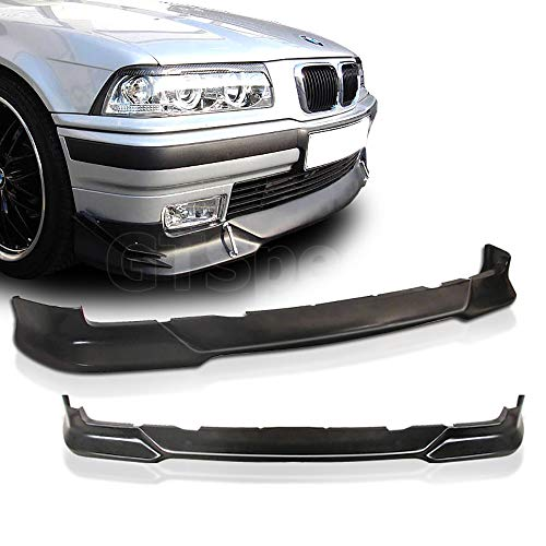 (GT-Speed for 1992-1998 BMW E36 3-Series M-Tech Style Front PU Bumper Lip (Not Compatible With M3 / M-Tech Bumper) )