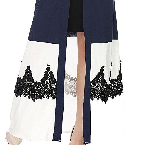 Molyveva Women New Muslim Islamic Kimono Lace Stitching Cardigan Loose Robe Coat by Molyveva Women Coat (Image #5)
