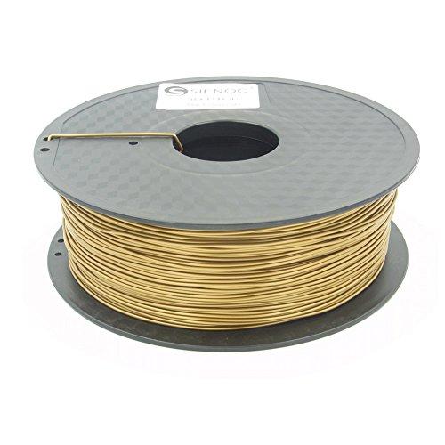 Sienoc 1,75 mm 3D Printer imprimeur ABS Filament 1KG Bobine de fil plastique (Or) …