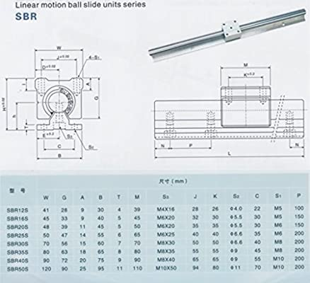 4 SBR20UU BEARING BLOCK Joomen CNC SBR20-2200mm LINEAR SLIDE GUIDE 2 RAIL