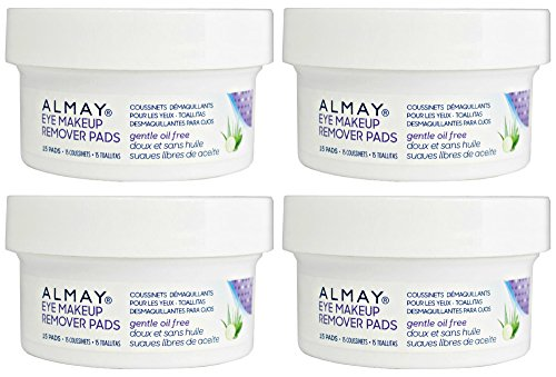 Almay - Oil Free Eye Makeup Remover - Travel Size  Pack of 4