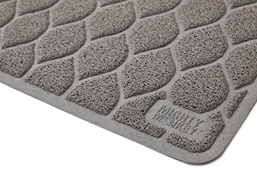 "The Original MIGHTY MONKEY Premium Non-Slip Cat Litter Mat, Phthalate Free, 35"" x 23"", Traps Litter, Best Scatter Control, Easy to Clean, Soft on Paws"
