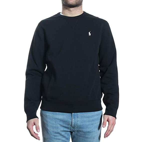 check out 2a281 d58fb Ralph Lauren - Felpa - Giacca - Uomo Nero L: Amazon.co.uk ...