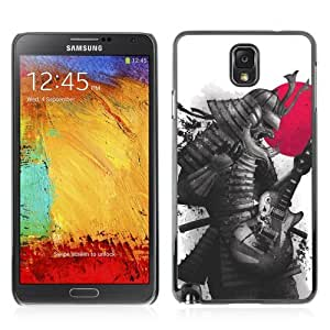 Designer Depo Hard Protection Case for Samsung Galaxy Note 3 N9000 / Japanese Samurai Warrior & Guitar
