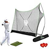 SteadyDoggie Sports & Outdoors Golf Net Bundle 4pc Professional Golf Practice Net, Dual-Turf