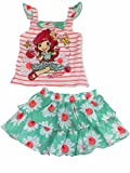 Strawberry Shortcake Little Girls Ruffle Tank Top Shirt Floral Daisy Outfit