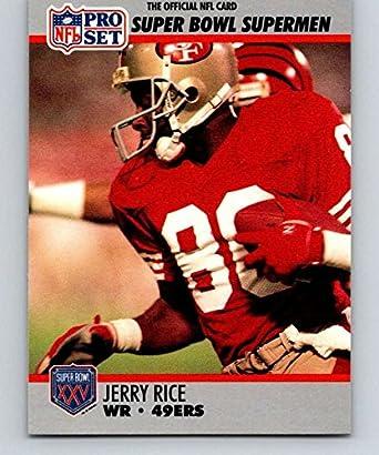 on sale c124a 1d59e Amazon.com: 1990 Pro Set Super Bowl 160#48 Jerry Rice 49ers ...