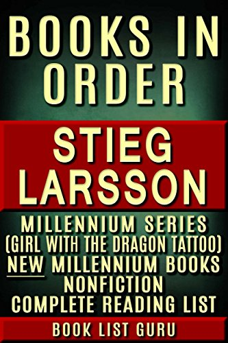 Stieg Larsson Books In Order Millennium Series The Girl With The