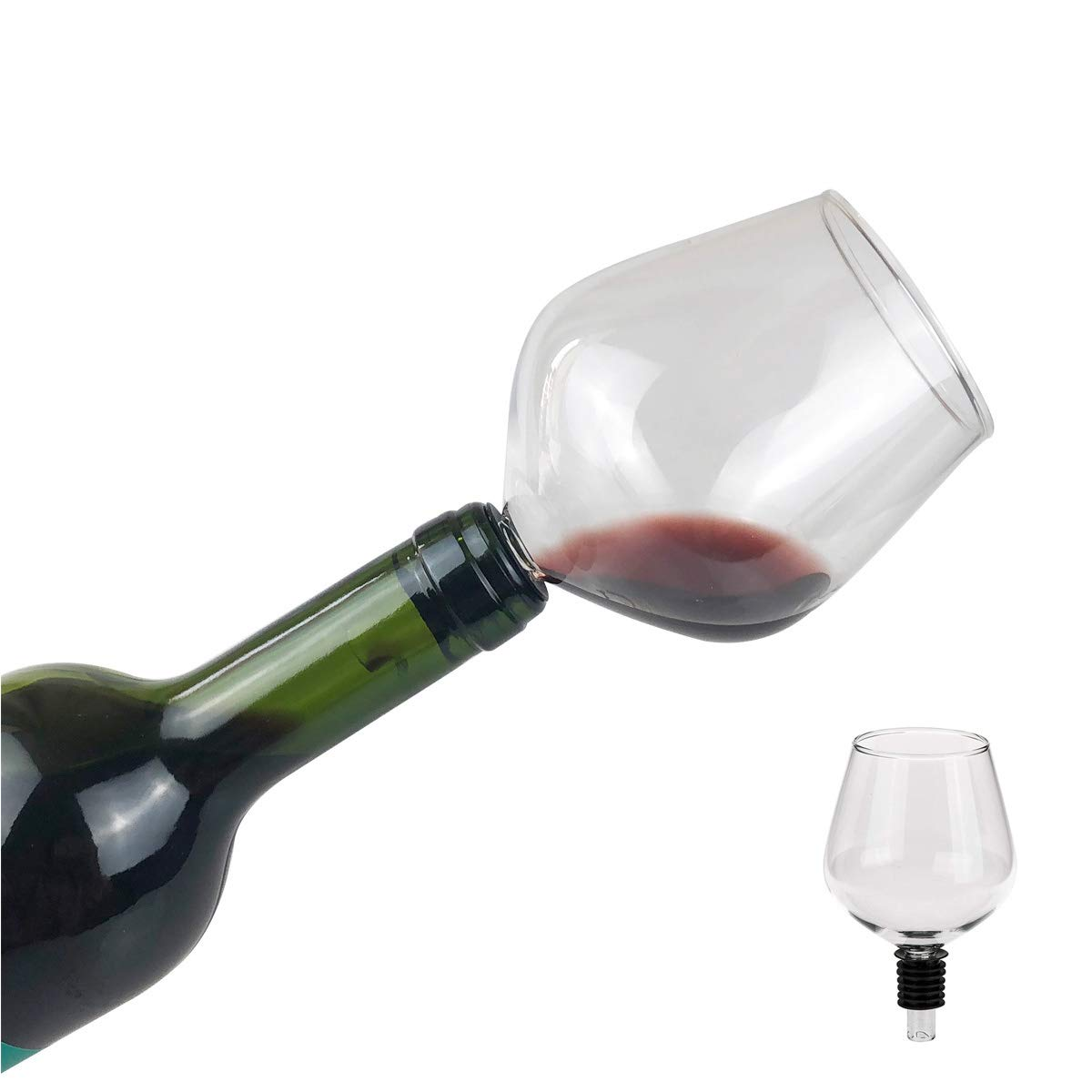 Eflying Lion Wine Glass, Wine Glass with Silicone Seal,260ML