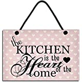 Handmade Wooden  The Kitchen Is The Heart Of The Home  Sign 153 by Maise & Rose