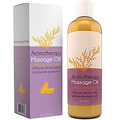 Aromatherapy Massage Oil for Massage Therapy with Pure Jojoba and Almond Oil With Relaxing Lavender Essential Oil  by Honeydew
