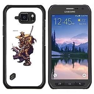 Caucho caso de Shell duro de la cubierta de accesorios de protección BY RAYDREAMMM - Samsung Galaxy S6Active Active G890A - Elm Street Killer