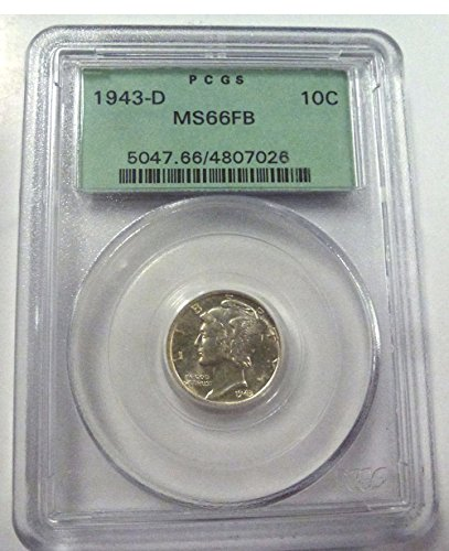1943 D Mercury Dime MS66 PCGS