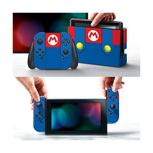 Controller Gear Nintendo Switch Skin & Screen Protector Set - Super Mario - Mario's Outfit - Nintendo Switch 2