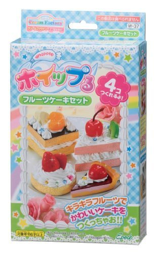 Whipple W-37 Fruit Cake Set Japanese Sample/replica Food Making Kits by Epoch