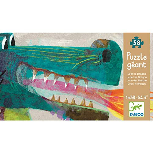 DJECO Leon The Dragon Giant Puzzle (58 pc) (Finished 0.5' Scale)
