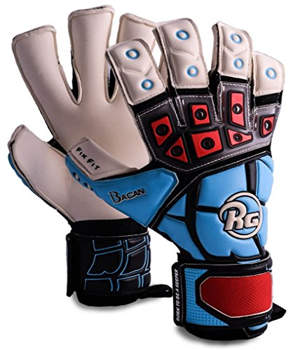 RG Bacan CHR Goalkeeper Gloves, 4mm German Giga Grip Latex, Fix Fit Technology, 6D Air Mesh, 3D Rubber Punch, Unisex Youth and Adult, Sizes 7-11 … (11)