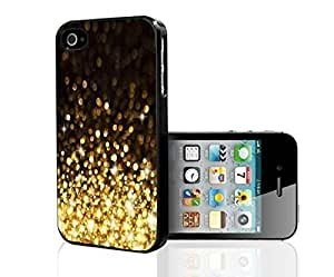 UCMDA High Quality Black and Gold Glitter Hard Snap on Phone Case Hard Snap on Phone Case for iPhone 4 4s by supermalls