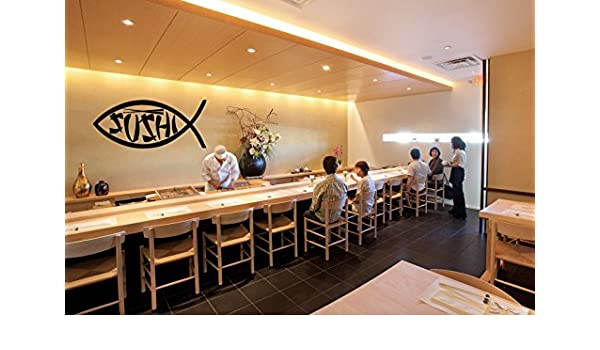 Wall Vinyl Sticker Decals Mural Room Design Sushi Sticks Japanese Food bo1904
