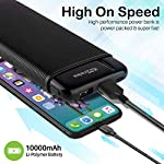 Portronics Power PRO 10K 10000mAh Power Bank with Dual Output Emergency Mobile Charger (POR-1221) (Black)