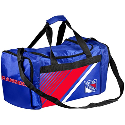 New York Rangers Border Stripe Duffle Bag (New York Border)