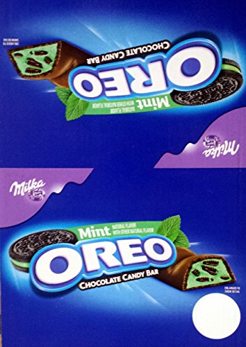Milka Oreo Mint Chocolate Bar, Pack of 24 -1.44 OZ (Halloween Candy)