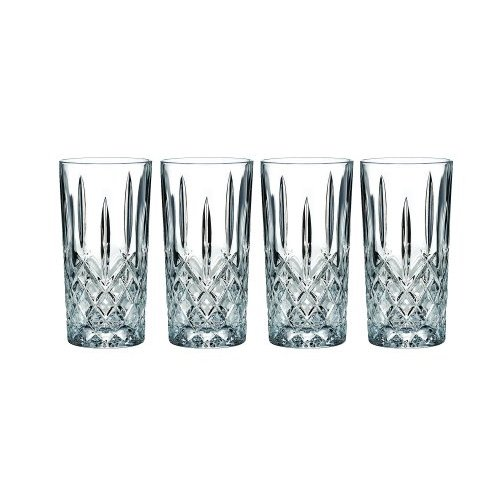 Marquis by Waterford Markham Hiball Collins Glasses, Set of 4 with Microfiber Cleaning Cloth
