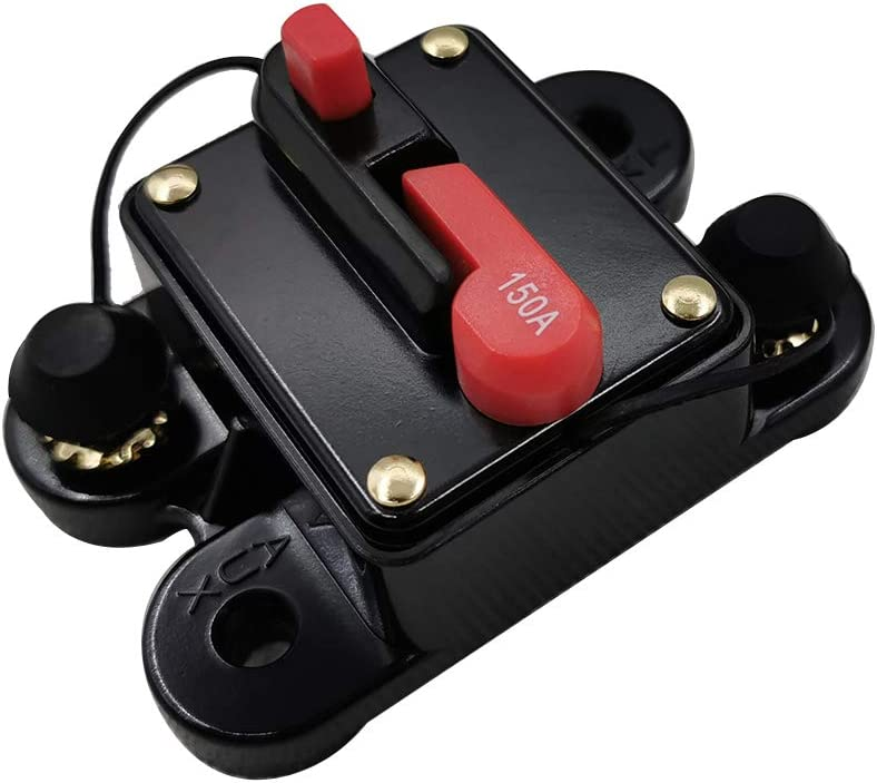 Mini Lightweight Portable Automatic Circuit Breaker12V-24V DC Thermal Circuit Breakers Easy to Use Tickas Car Circuit Breaker