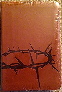 Paperback Holman Christian Standard Bible HCSB Pocket Size Gift Bible Simulated Leather Tan Crown Of Thorns Book