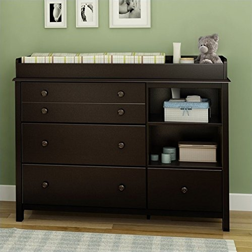 South Shore Convertible Changing Table with Storage Drawers and Removable Changing Station, ()