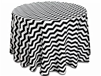 amazon tablecloth polyester chevron round black by broward 108 Inch Wide Fabric image unavailable