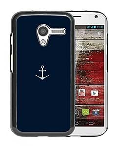 Unique Designed Cover Case For Motorola Moto X With Ah Minimal Sea Anchor Logo Blue Art Phone Case