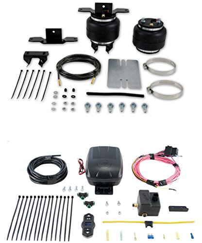 Set of Rear Load Lifter 5000 Series w/Wireless One Single Path On-Board Air Compressor System Kit for Toyota Motorhome Micro Mini (Micro Single Suspension)