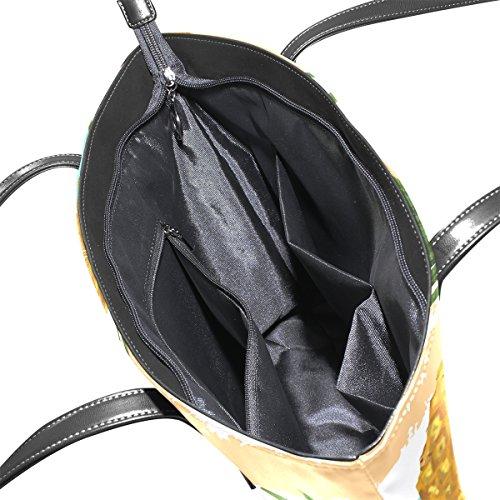 e7d0a92fdde82 ... COOSUN Hand gezeichnete Muster mit Ananas PU Leder Schultertasche  Handtasche und Handtaschen Tasche für Frauen