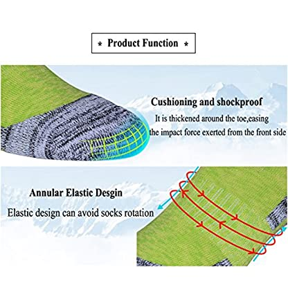 RedMaple 3 Pairs Camping Hiking Walking Socks for Women - Cushioned Comfortable Fitness Athletic Crew Socks for Outdoor… 3