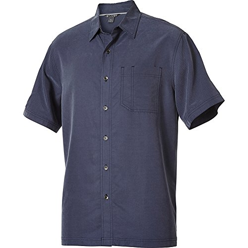 Royal Robbins Men's Desert Pucker Short Sleeve Shirt,NAVY,Medium