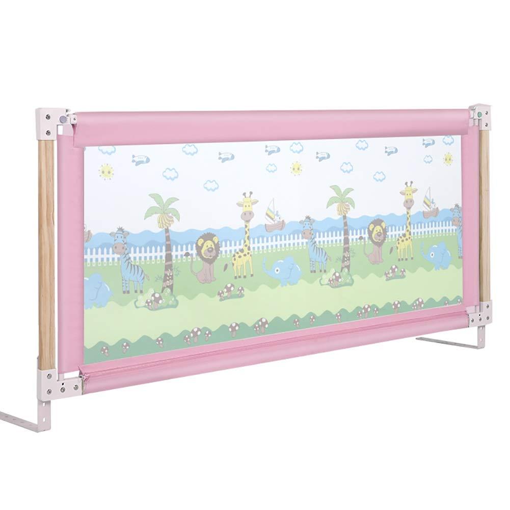ベッドフェンス- 高められたピンクのベッドのガードレール、乳がんに強いベッドレール、垂直方向のリフティングをサポート (サイズ さいず : 150cm) 150cm  B07RSCTZTW