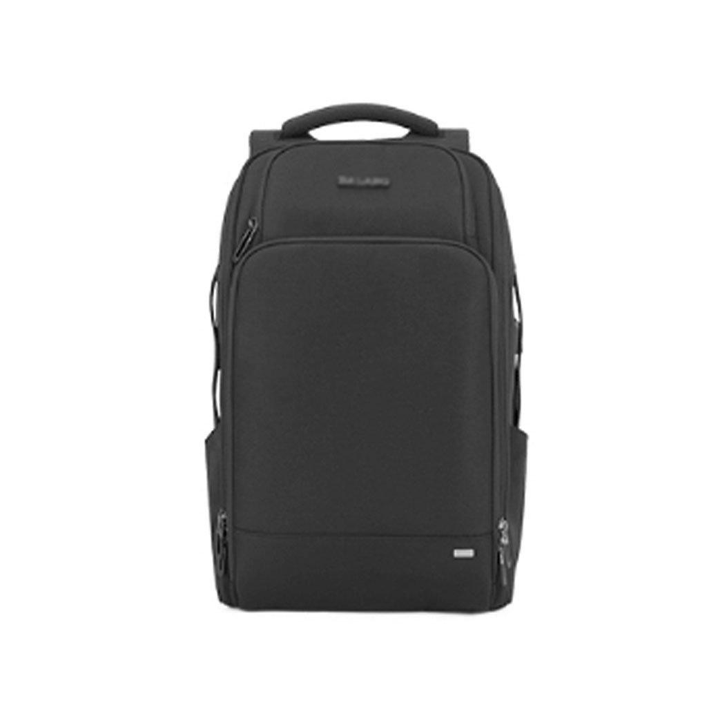 新しい大容量旅行バックパックメンズビジネスコンピュータバッグ防水盗難防止旅行バックパック (色 : ブラック) B07DRJJSLH ブラック