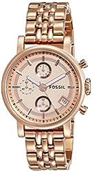 Fossil Women's ES3380 The Original Boyfriend Rose Gold-Tone Chronograph Watch