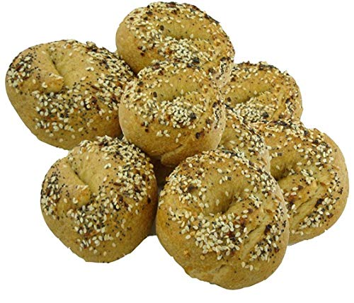 Low Carb Everything Bagels (12 Bagels) - Fresh Baked, All Natural, Sugar Free, High Protein, Diabetic Friendly, Low Carb Bagels