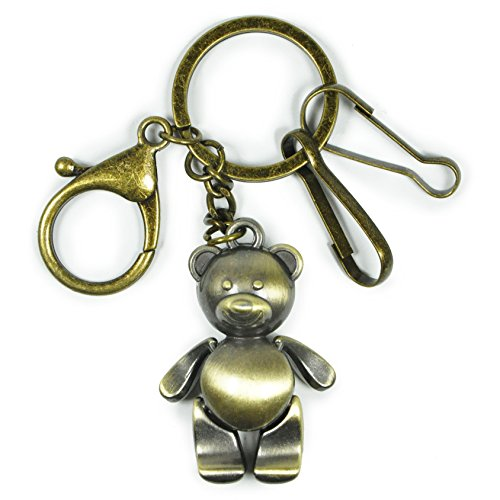 Bronze Key Chain,Handbag Tote Purse Ornament Charm Elegant Keychain Ornaments (Little Bear)