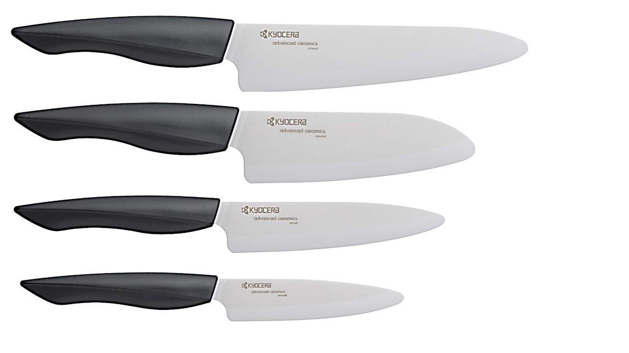 Kyocera FZ-4PC WH-BK Innovation Series Ceramic Knife, 7''/5.5''/5''/4.5'', WHITE by Kyocera (Image #1)
