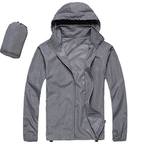 CN-Porter Womans Long Sleeve Lightweight Waterproof Outdoor Raincoat W/Hooded