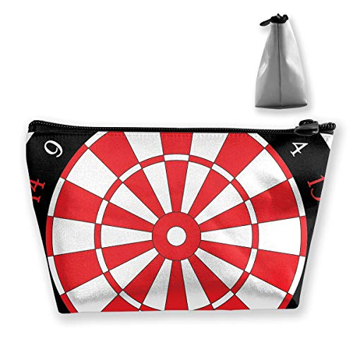Makeup Bag Cosmetic Darts Board Portable Bag Mobile Trapezoidal Storage Bag Travel Bags With Zipper